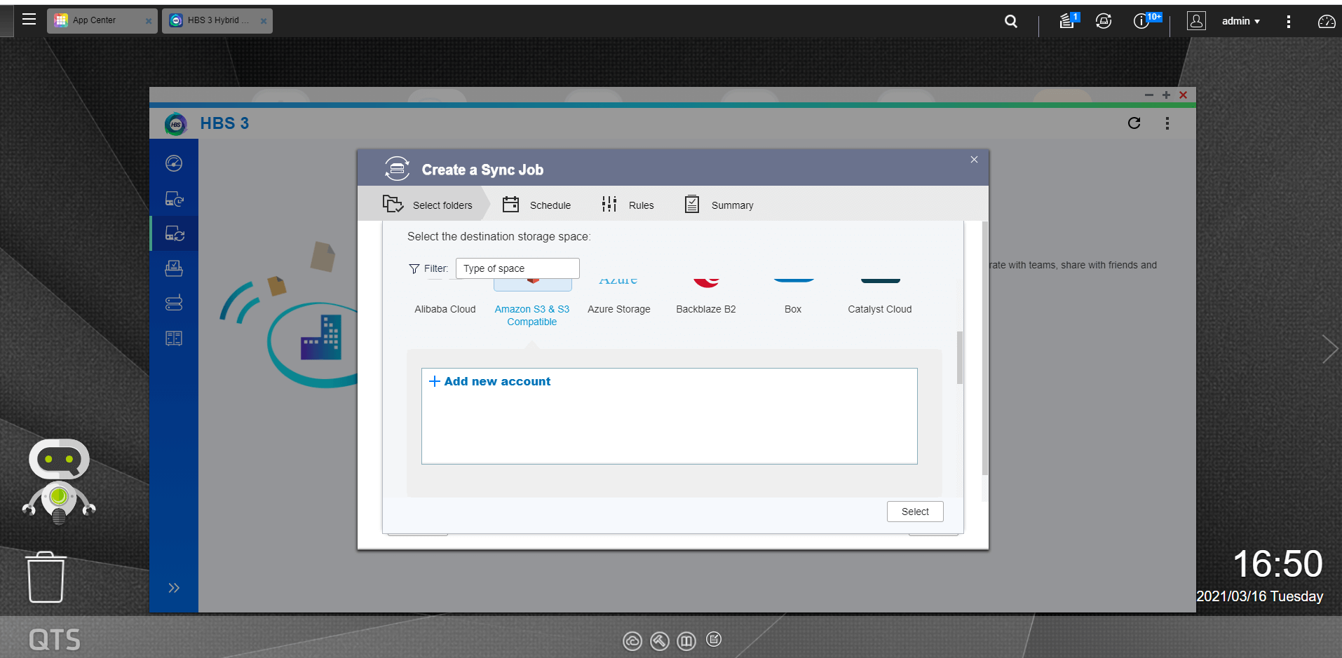 How to setup QNAP Hybrid Backup Sync with Polycloud